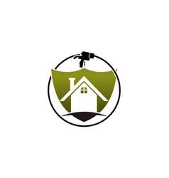 Eco home insulation vector