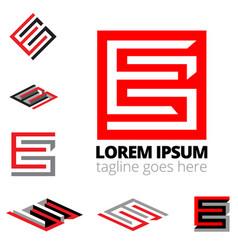 eg letter based monogram symbol vector image
