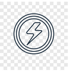 electricity concept linear icon isolated on vector image