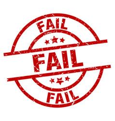 Fail round red grunge stamp vector