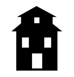 farm house icon simple style vector image