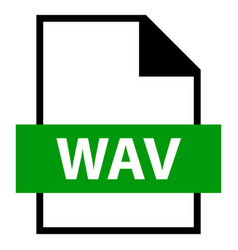 file name extension wav type vector image