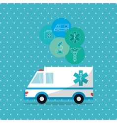 Flat about medical care design vector image