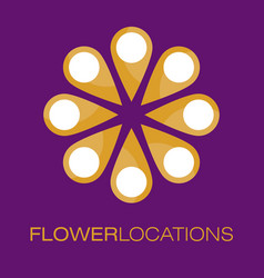 Floral logo poster vector