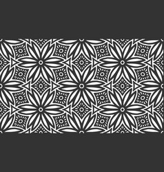 flower seamless pattern ornament repeat background vector image