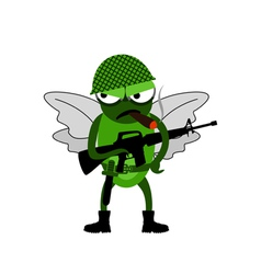 Fly of soldiers vector image