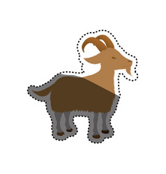 Goat farm animal vector