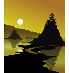 Golden Shores vector image
