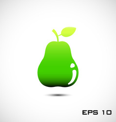 green pear icon vector image