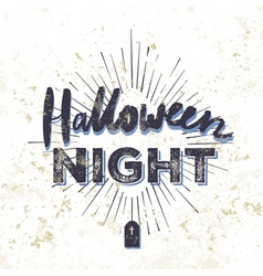 halloween party invitation card grunge vector image