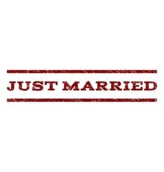 Just Married Watermark Stamp vector image