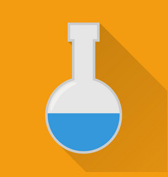 Laboratory flask flat icon modern vector