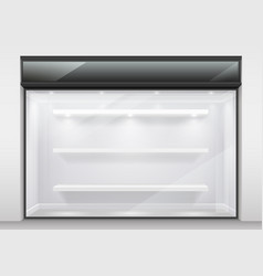 Large glass showcase vector