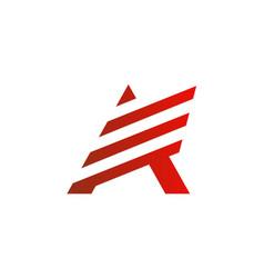 Letter a stripe business company logo vector