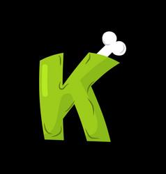 letter k zombie font monster alphabet bones and vector image vector image