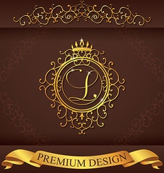 Letter L Luxury Logo template flourishes vector image