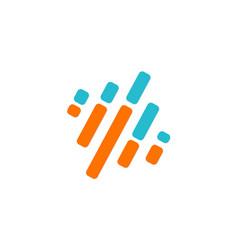 Line stripe technology logo vector