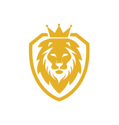 Lion king shield logo vector