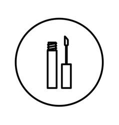 lip gloss icon editable thin line vector image