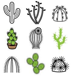 Logo icons cactus vector
