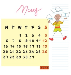 may 2013 vector image