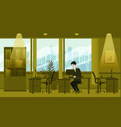 Modern interior of the office the character vector