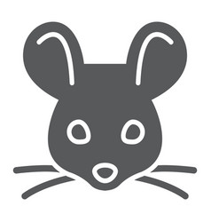 Mouse glyph icon animal and zoo rat sign vector