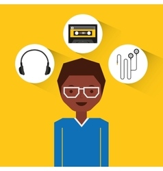 music entertainment person avatar vector image