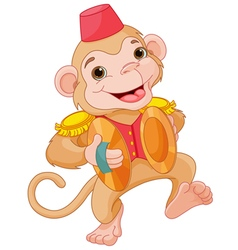 Musical monkey vector