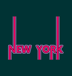 New york city name vector