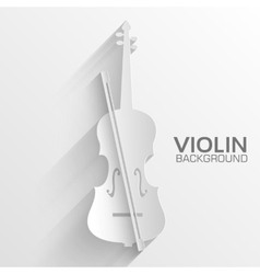 paper violin background concept tamplate fo vector image
