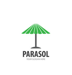 Parasol logo for business company simple parasol vector