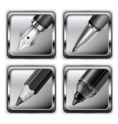 pen icon set 10 v vector image