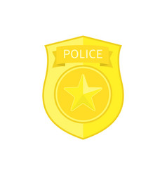 Police badge icon vector