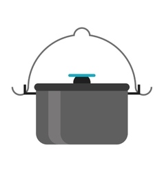 Pot food element camping vector