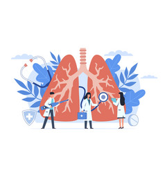 Pulmonology lung respiratory system examination vector