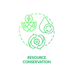 Resource conservation concept icon vector