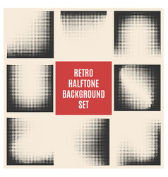retro halftone background set vector image