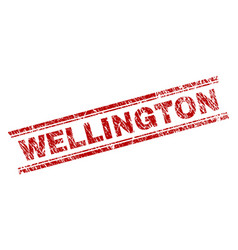 Scratched textured wellington stamp seal vector