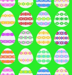Seamless texture of Easter eggs vector