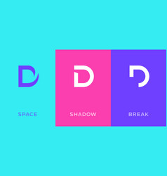 set letter d minimal logo icon design template vector image