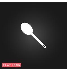 spoon flat icon vector image