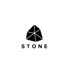 Stone logo design concept vector