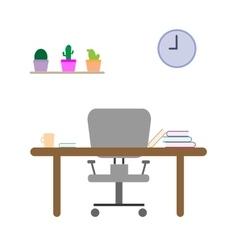 Study room in flat design vector