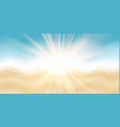 summer beach themed banner design vector image