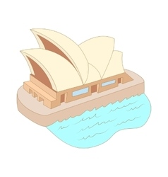 Sydney opera house icon cartoon style vector