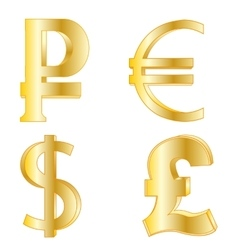 Symbols of national currency vector image