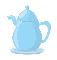 Tea pot porcelan coffee vector