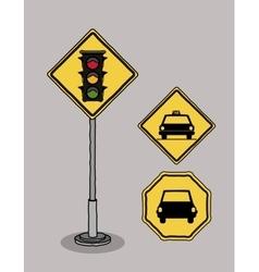 traffic signals design vector image