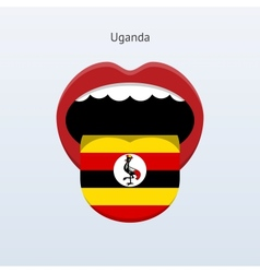Uganda language Abstract human tongue vector